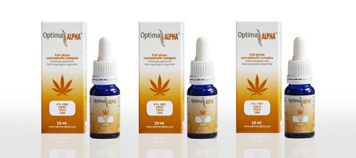 CBD olie 5% Optima Alpha pakket 3 x 10 ml+gratis CBD 4%