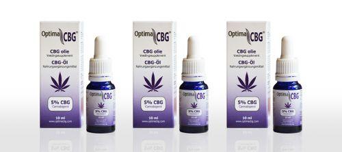CBG olie 5% 3 x 10 ml pakket