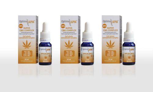 Alpha CBD olie (cannabinoïden complex) 20% 6 x 10 ml