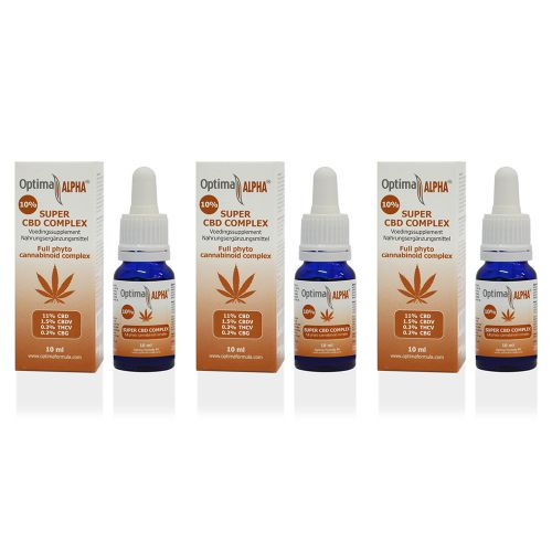 Alpha CBD olie (cannabinoïden complex) 10% 12 x 10 ml