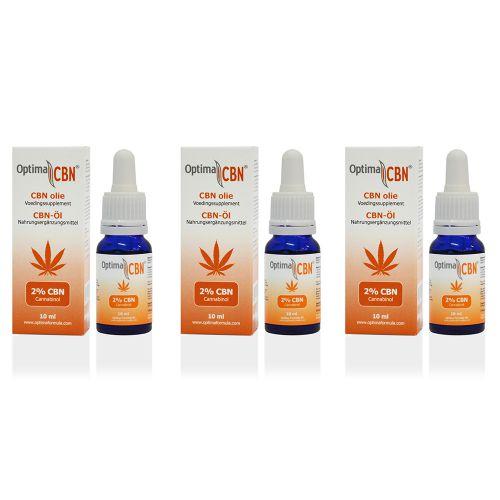 CBN olie (cannabinol) 2% 3 x 10 ml