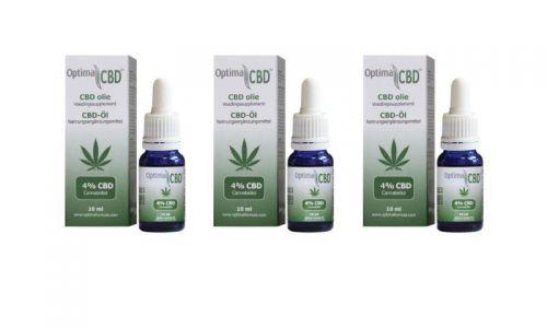 CBD olie (cannabidiol) 4% 3 x 10 ml